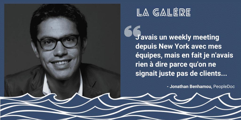 Jonathan Benhamou - PeopleDoc | Podcast La Galère | Start The F Up